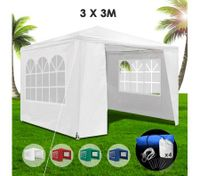 3x3m White Walled Waterproof Outdoor Gazebo