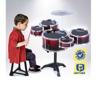 Bright Red Jazz Drum Play Set-5 Drum & 1 Cymble