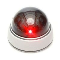 4x Dummy Dome Security CCTV Camera Fake Infrared Flashing Red LED Light
