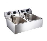 Double Pan Stainless Steel Deep Fryer with Temperature Control