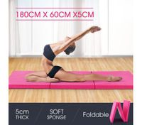Tri-Fold Exercise Floor Mat-Pink
