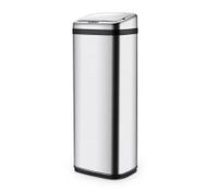 50L Silver Chrome Sensor Powered  Waste Bin