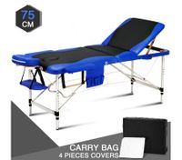 75 CM Black and Blue Aluminum Massage AND Therapy Bed