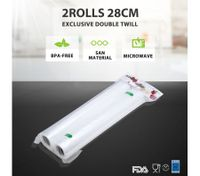 Rolls of 28 x 300cm Vacuum Sealer Bags with 2 Sides Textured
