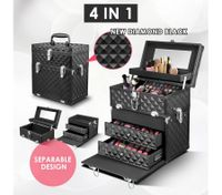 4 IN 1 Professional Portable Beauty Case and Cosmetics Box