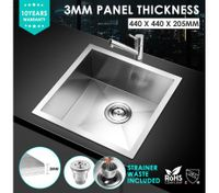 44x44cm Handmade 304SUS Under/Topmount Kitchen Sink