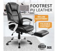 New Executive Office Computer Chair PU Armchair Footrest