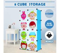 Tupper Cabinet 8 Cubes Kids DIY Storage Cabinet Bookshelf-Blue