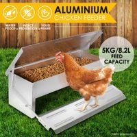 DIY Durable Rustproof Aluminum Auto Chicken Feeder