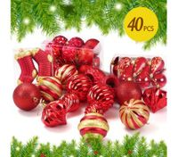 40PCS Christmas  Décor  Ornament Set