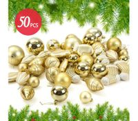 50PCS Christmas Décor Ornament Set