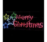 Merry Christmas LED Rope Lights -Multi-Colour-F-LR-MS11