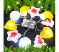 10 LED Home Christmas Party Light Décor Red & Orange
