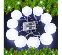 10 LED Home Christmas Star Party Light Décor -White