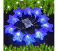 10 LED Home Christmas Star Party Light Décor -Blue
