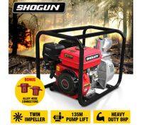 "NEW Shogun 8HP 2"" Twin Impeller Petrol High Pressure Water Transfer Pump"
