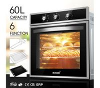 6 Function 60L Electrical Convection Built In Oven