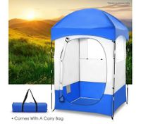 XL Outdoor Portable Camping Changing Tent With 2 Windows, Pocket bag & Removable cover
