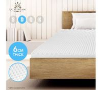 Double Size Egg Crate Foam Mattress Topper Underlay 6 CM