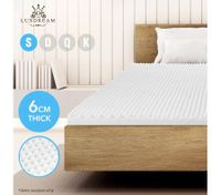 6 CM Single Egg Crate Foam Mattress Topper Underlay Protector