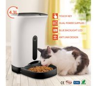 4.3L Automatic Digital Pet Feeder Food Bowl Dispenser
