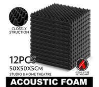 12  Eggshell Sound Absorption Treatment Acoustic Foam 50 x 50cm