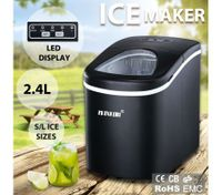2.4L Portable Ice Maker Easy Sizes S/L with LED Display