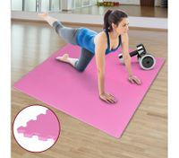Expandable Anti Slip Exercise Floor workout Mat -  Pink