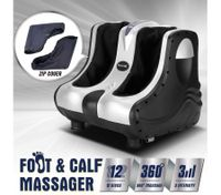 3D Shiatsu Foot Ankle Calf Massager Silver - 4 Motors