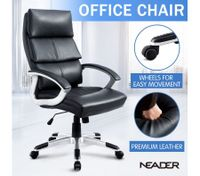 Thick Padded Leather Office Chair
