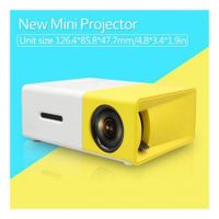 YG-300 LCD Mini Portable LED Projector Support 1080P 400-600 Lumens 320x240 Pixels Home Cinema