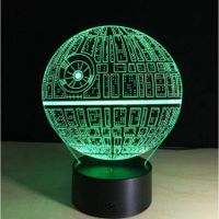 3D Star Wars Death Star 7 Colors Changing LED Lamp Kids Gift Toy