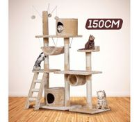 Cat Scratching Post and Tree Gym House for Large Cats