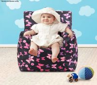 Pink Print Baby Bean Bag Sofa Cover