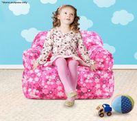 Pink Print Kid Bean Bag Sofa Cover