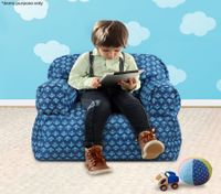 Blue Print Kid Bean Bag Sofa Cover