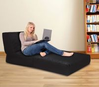 Black Bean Bag Sofa Cover