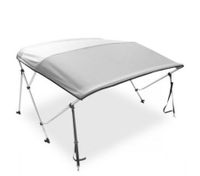 3 Bow Light Grey Boat Bimini Top- 1.3m to 1.5m