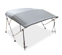 4 Bow Light Grey Boat Bimini Top 1.5m to 1.7m