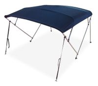4 Bow Navy Blue Boat Bimini Top 1.5m to 1.7m