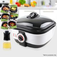 Multi-Function 8-in-1 Cooker with Oil Sprayer