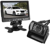 "Wireless Rainproof Car Rear View Kit 7"" TFT LCD Monitor +18LED Reversing Camera 120° Lens Angel"