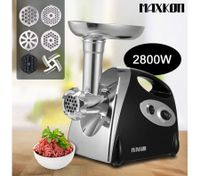 Sleek and Stylish Electric Meat Grinder in Red