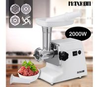 Maxkon Non Slip Electric Meat Grinder with Accessories