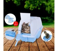 2 in 1 Large Hooded Cat Litter Tray with Flap Door