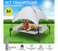 Heavy Duty Pet Trampoline Cot with Cot Canopy-Medium