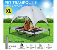 Heavy Duty Pet Trampoline Cot with Cot Canopy-X-Large