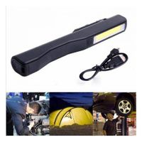 2 In 1 Camping LED COB Light USB Rechargeable Work Inspection Magnetic Lamp