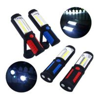 COB LED Flashlight Magnetic Working Stand Hanging Swivel Hook Rotation Light Lamp