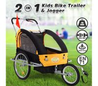 Kidbot 2 IN 1 Bicycle Trailer Pram Stroller Jogger-Orange